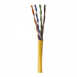 96263-46-02 Coleman Cable 1000' Network Cable Unshielded Twisted Pairs (UTP) - CAT5 - Pull Box - Yellow