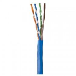 96273-06-06 Coleman Cable 1000' CAT 5E 24/4 PR Shielded STP CMR - Reel - Blue
