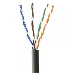 96294-06-08 Coleman Cable 1000' Outdoor Use Direct Burial CAT5 Network Cable UTP - Reel - Black