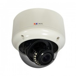 A81 ACTi 2.8-12mm 30FPS @ 2048 x 1536 Outdoor IR Day/Night WDR Dome IP Security Camera 12VDC/POE