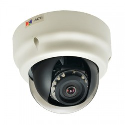 B51 ACTi 1.9mm 30FPS @ 1920x1080 Indoor IR Day/Night WDR Dome IP Security Camera 12VDC/PoE
