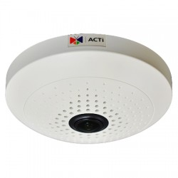 B54 ACTi 1.19mm 15 FPS @ 2592x1944 Indoor Day/Night WDR Fisheye IP Security Camera 12VDC/POE