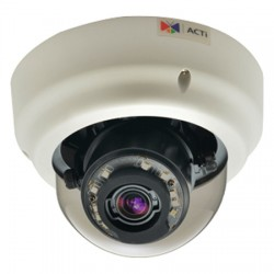 B64 ACTi 3-9mm Varifocal 30FPS @ 1280x720 Indoor IR Day/Night WDR Dome IP Security Camera 12VDC/PoE