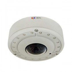 B76 ACTi 1.3mm 10FPS @ 4096 x 2160 Outdoor IR Day/Night WDR Hemispheric Dome IP Security Camera 12VDC/POE