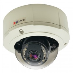 B84 ACTi 3-9mm Varifocal 60FPS @ 1280x720 Outdoor IR Day/Night WDR Dome IP Security Camera 12VDC/PoE