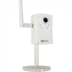 C11W Acti 3.6mm 30FPS @  1280 x 1024 Day/Night WDR Cube IP Security Camera Built-In WiFi 12VDC