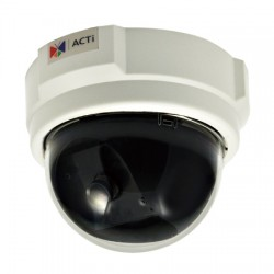 D51 ACTi 3.6mm 30 FPS @ 1280x720 Indoor Color Dome IP Security Camera POE