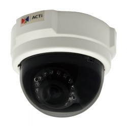 D54 ACTi 3.6mm 30FPS @ 1280x720 Indoor IR Day/Night Dome IP Security Camera POE