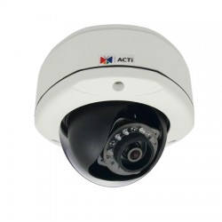 D71A ACTi 2.93mm 30FPS @ 1280x720 Outdoor IR Day/Night Dome IP Security Camera PoE