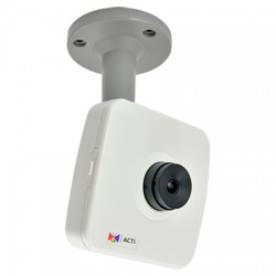 E14 Acti 3.6mm 30FPS@ 1920 x 1080 Day/Night WDR Cube IP Security Camera POE