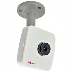 E15 Acti 1.19mm 15FPS@ 2592 x 1944 Day/Night WDR Fishey Cube IP Security Camera POE