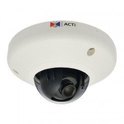 E92 ACTi 2.93mm 15FPS @ 2048x1536 Indoor Color WDR Dome IP Security Camera POE