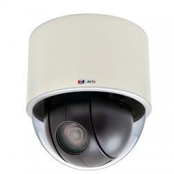 I91 ACTi 4.3-129mm Varifocal 30FPS @ 1280x720 Indoor Day/Night WDR PTZ IP Security Camera 12VDC/PoE