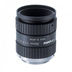 "M2514-MP Computar 2/3"" 25mm f1.4 w/ Locking Iris & Focus Megapixel C-Mount Lens"