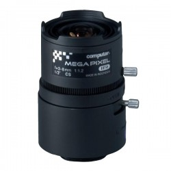 T3Z0312CS-MPIR Computar CS-Mount 3-8mm Vari-focal F/1.2 3 Mega-Pixel IR-corrected Manual Iris Lens