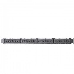 CAT 5E Patch Panel 24 Port 1U Rack Mount