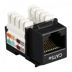CAT5e RJ-45 Punch Down Keystone Jack - Black