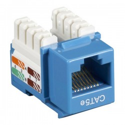 CAT5e RJ-45 Punch Down Keystone Jack - Blue