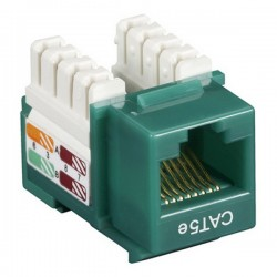 CAT5e RJ-45 Punch Down Keystone Jack - Green