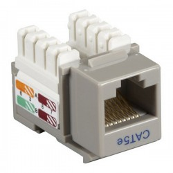 CAT5e RJ-45 Punch Down Keystone Jack - Gray