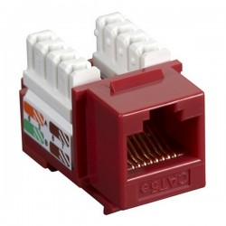 CAT5e RJ-45 Punch Down Keystone Jack - Red