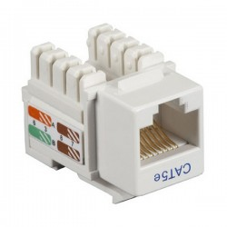 CAT5e RJ-45 Punch Down Keystone Jack - White