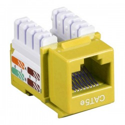 CAT5e RJ-45 Punch Down Keystone Jack - Yellow