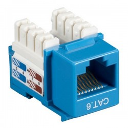 CAT6 RJ45 Punch Down Keystone Jack - Blue