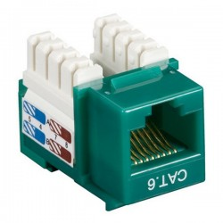 CAT6 RJ45 Punch Down Keystone Jack - Green