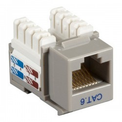 CAT6 RJ45 Punch Down Keystone Jack - Gray