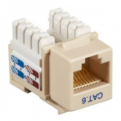 CAT6 RJ45 Punch Down Keystone Jack - Ivory