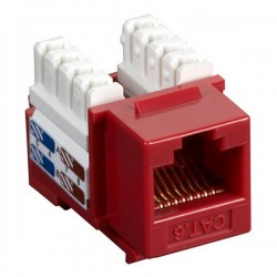 CAT6 RJ45 Punch Down Keystone Jack - Red