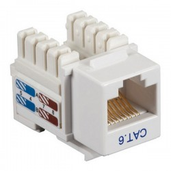 CAT6 RJ45 Punch Down Keystone Jack - White