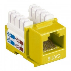 CAT6 RJ45 Punch Down Keystone Jack - Yellow