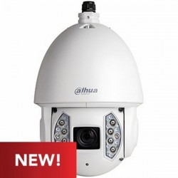 6AE240VNI Dahua 4.5mm 60FPS @ 1920 x 1080 Outdoor IR Day/Night WDR PTZ Security Camera 24VAC/PoE