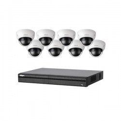 BN481E82 Dahua 8 Channel NVR Kit 200 Mbps Max Throughput - 2TB w/ 8 x 3MP Dome Security Cameras