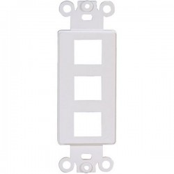 20-5162 3 Keystone Insert Decor Plate - White