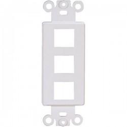 20-5163 3 Keystone Insert Decor Plate - Ivory