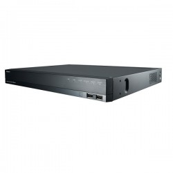 QRN-1610S Hanwha Techwin 16 Channel at 4K NVR 128Mbps Max Throughput - No HDD w/ Built-in 16 Port PoE