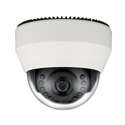 SND-6011R Hanwha Techwin 3.8mm 60FPS @ 1920 x 1080 Indoor IR Day/Night WDR Dome IP Security Camera PoE