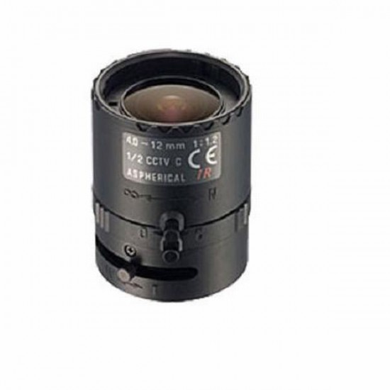 "12VG412ASIR-SQ Tamron 1/2"" 4-12mm F/1.2 IR Aspherical w/ Connector DC Iris Lens"