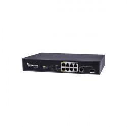 AW-FGT-100C-120 Vivotek 8 FE PoE Ports + 1 GE UTP + 1 GE SFP 120W Total Budget Unmanaged PoE Switch