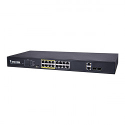 AW-FGT-180D-250 Vivotek 16 x  FE PoE + 2 GE Combo 250W Total Budget Unmanaged Switch