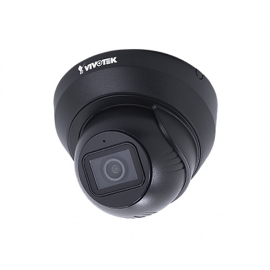 IT9389-HT-B Vivotek 3.7~7.7mm Varifocal 30FPS @ 5MP Outdoor IR Day/Night WDR Pro Turret IP Security Camera PoE - Black