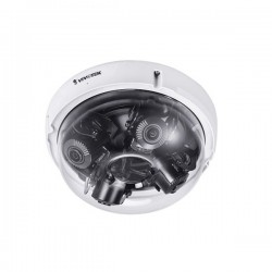 MA9321-EHTV Vivotek Multi-Sensor 3.7~7.7mm Varifocal 30FPS @ 20MP Outdoor IR Day/Night WDR Dome IP Security Camera 24VAC/PoE - Extreme Weather
